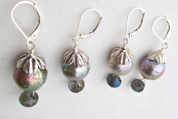 Evening Garden Pearl Earrings