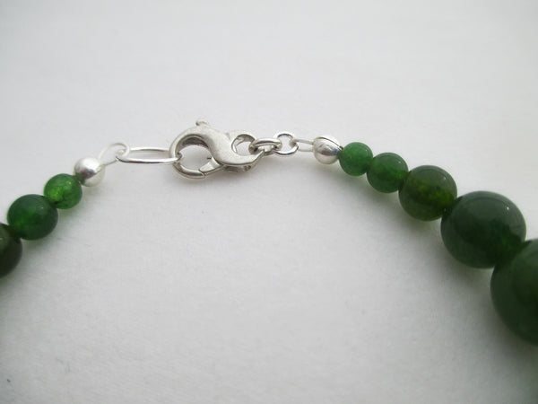 sterling silver lobster clasp handcrafted jade bracelet and anklet