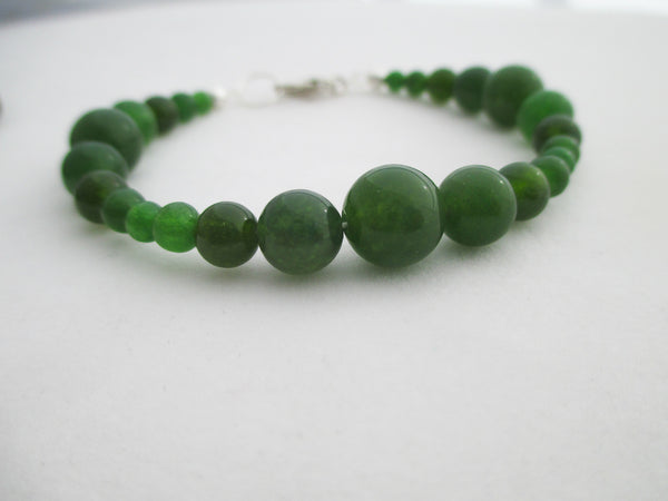 Jade anklet and bracelet