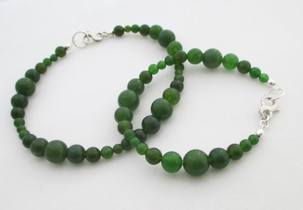 handcrafted with love in california nephrite jade anklet and bracelet