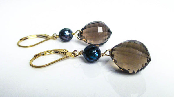 Drop Of Night Earrings