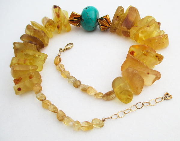 Amber and Turquoise Collar