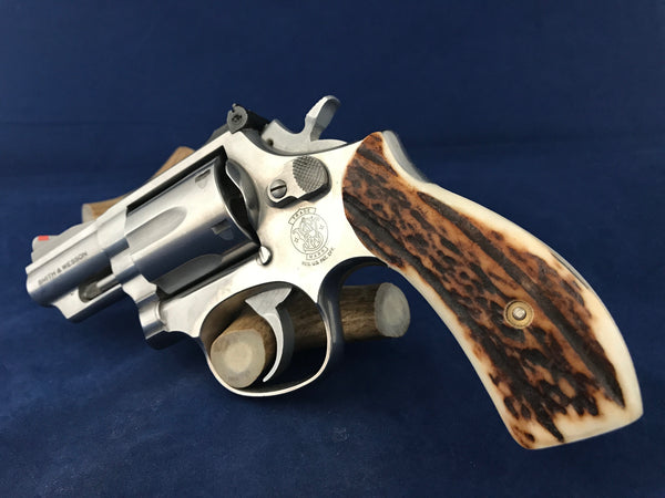 S&W K/L Frame Round Butt Sambar Stag Horn #R1009