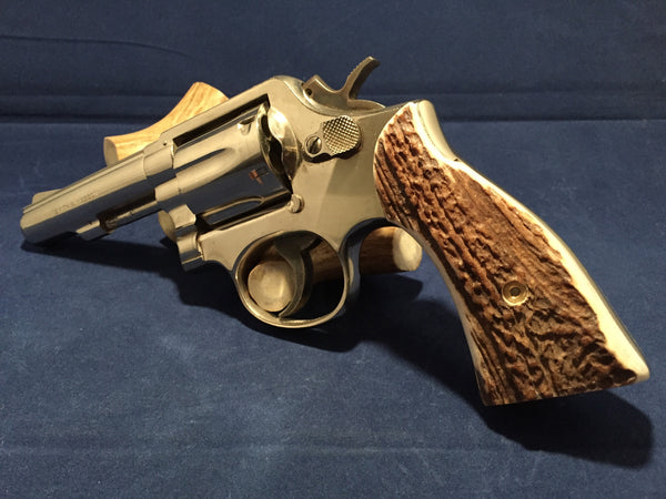 S&W K/L Frame Square Butt Sambar Stag Horn #R1003