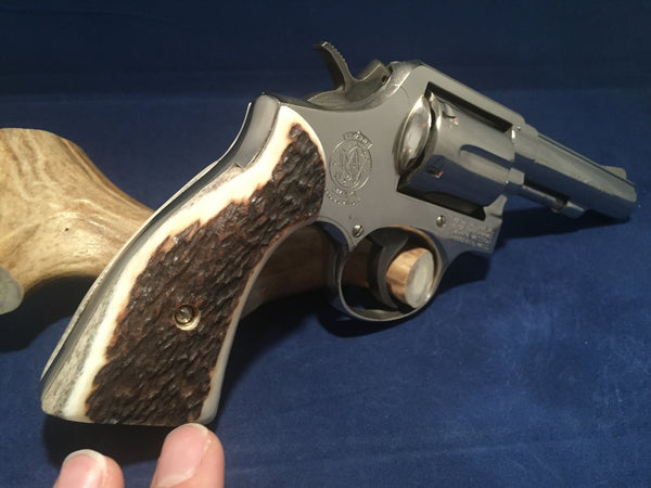S&W K/L Frame Square Butt Sambar Stag Horn #R1005