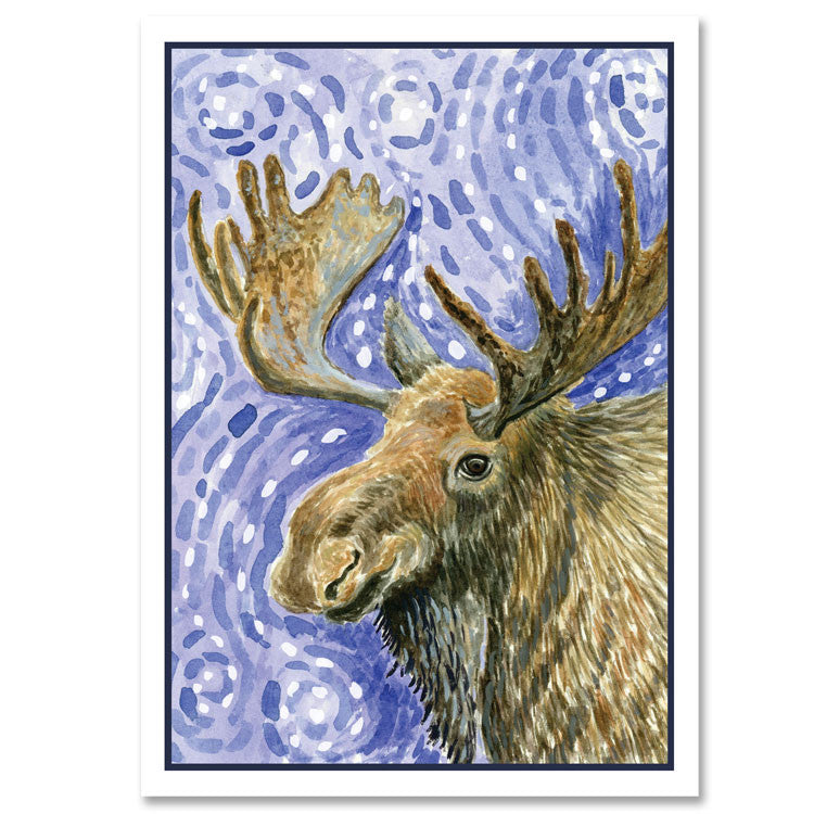 042HOL Moose Christmas Card - 6 Single Cards - WHOLESALE ONLY ...