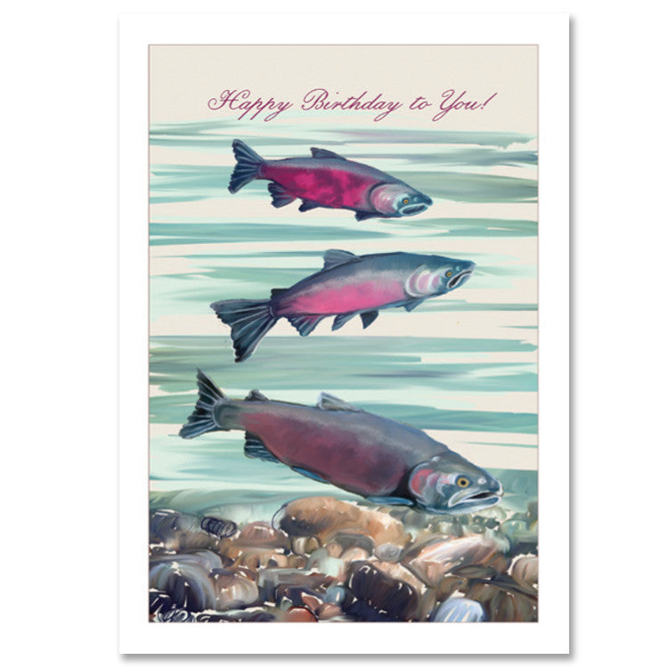 190b Salmon Birthday 6 Single Cards Wholesale Only Arbor Vitae