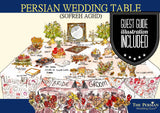 || Persian Wedding Ceremony ||  Vows & Sofreh Aghd Script + Guest Guide