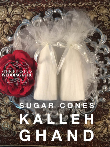 || Kalleh Ghand (Sugar Cones)-  For Persian Wedding ||