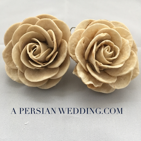 Bread Flowers ( Lavash or Sangak) for A Persian Wedding Table Sofreh Aghd ( Two Handmade Flowers) + Digital Guides