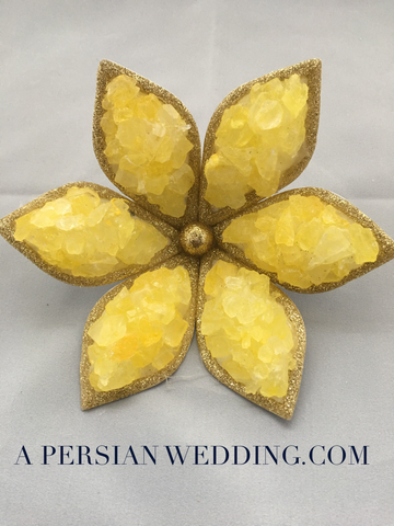 GOLD Rock Candy (Nabat) Flower For Persian Wedding Sofreh Aghd (Handmade ) + Digital Guides