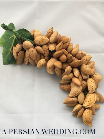 Nuts Cluster (Handmade Almonds) for A Persian Wedding Sofreh Aghd + Digital Guides