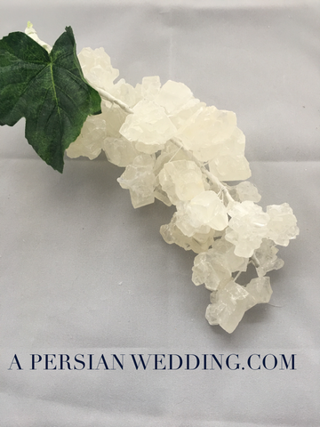 Rock Candy Cluster (Nabat) for A Persian Wedding Table Sofreh Aghd + Digital Guides