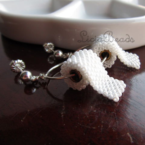 Toilet paper earrings on sterling silver or gold posts, handmade to order