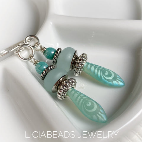 Lagoon earrings for mermaids