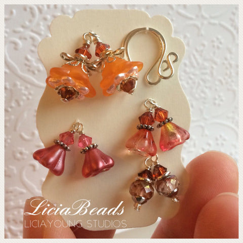 Picante spice interchangeable earrings