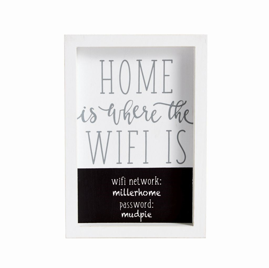 Home Wifi Plaque