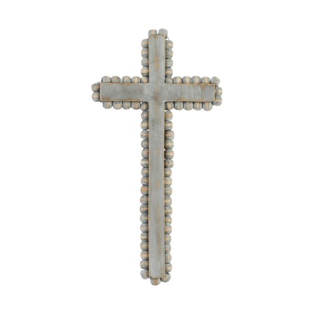 Gray-Washed Beaded Cross