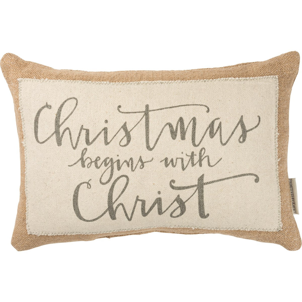 Begins With Christ Pillow