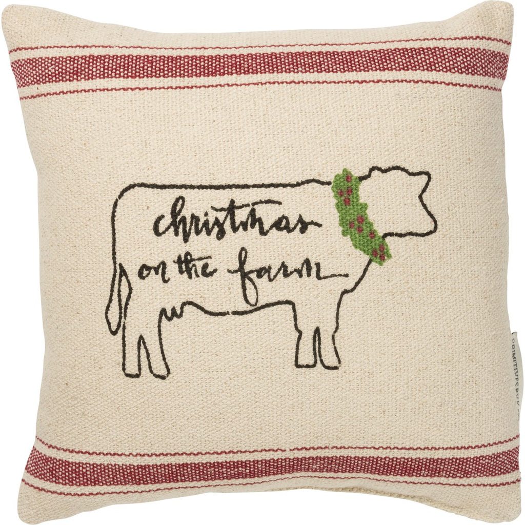 Christmas On The Farm Pillow