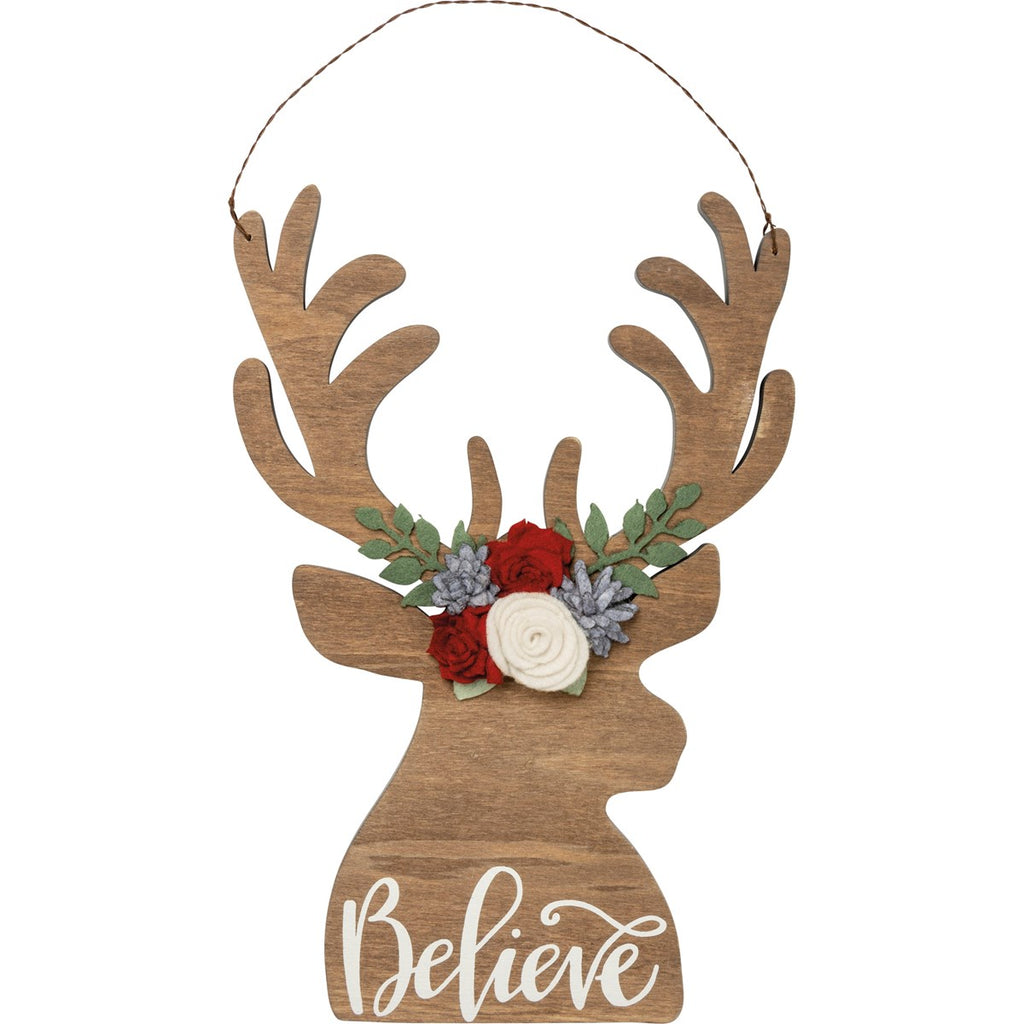 Believe Deer Wall Hanger