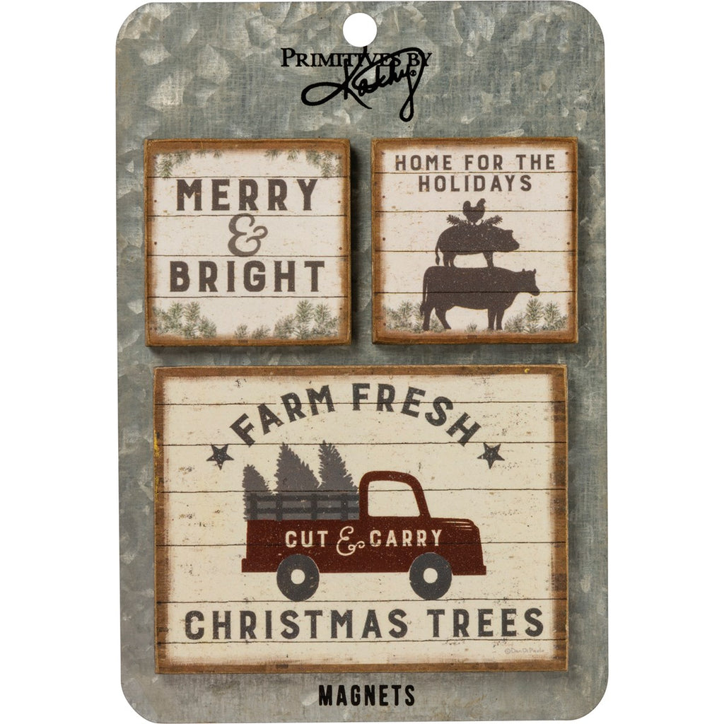 Christmas Trees Magnet Set