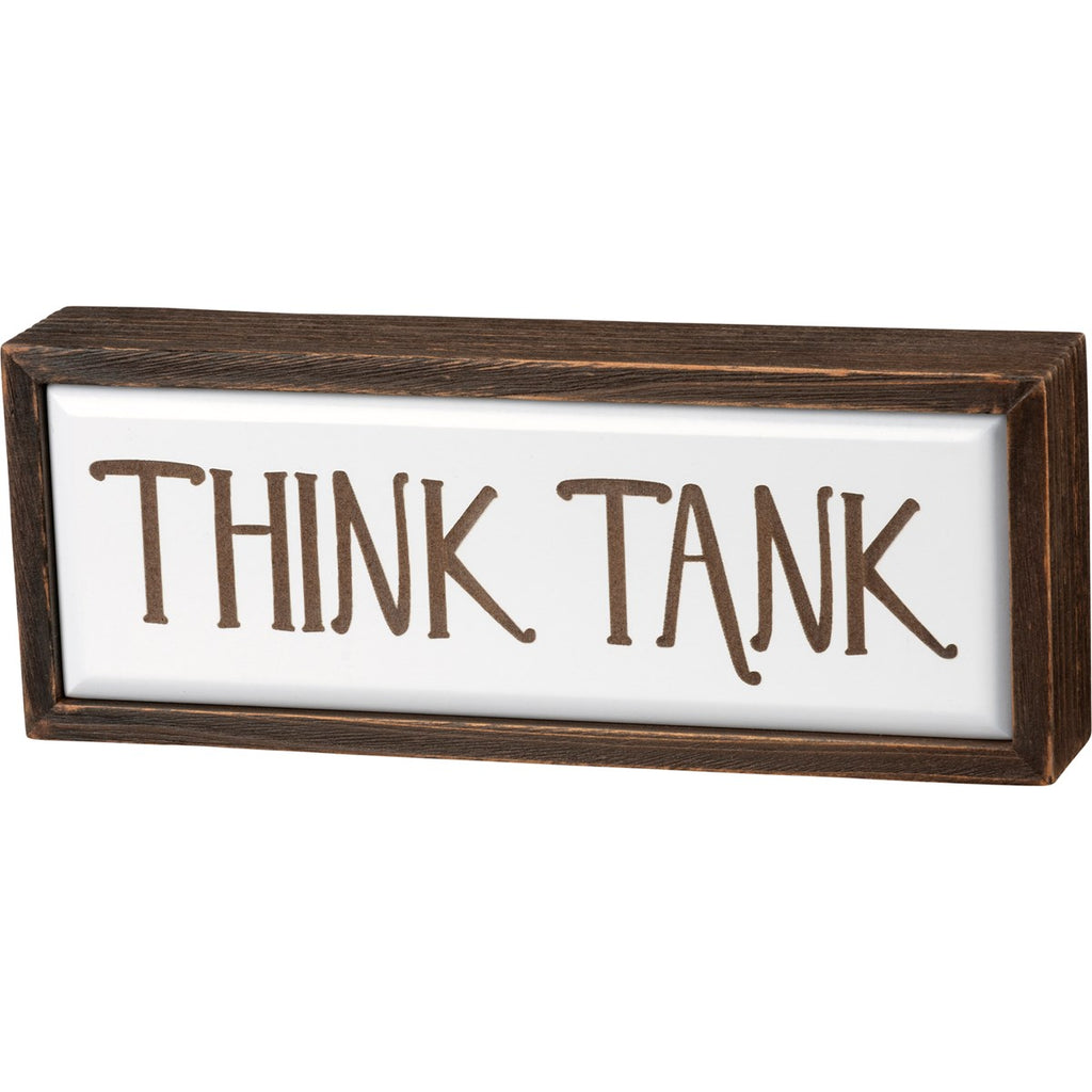 Think Tank Box Sign