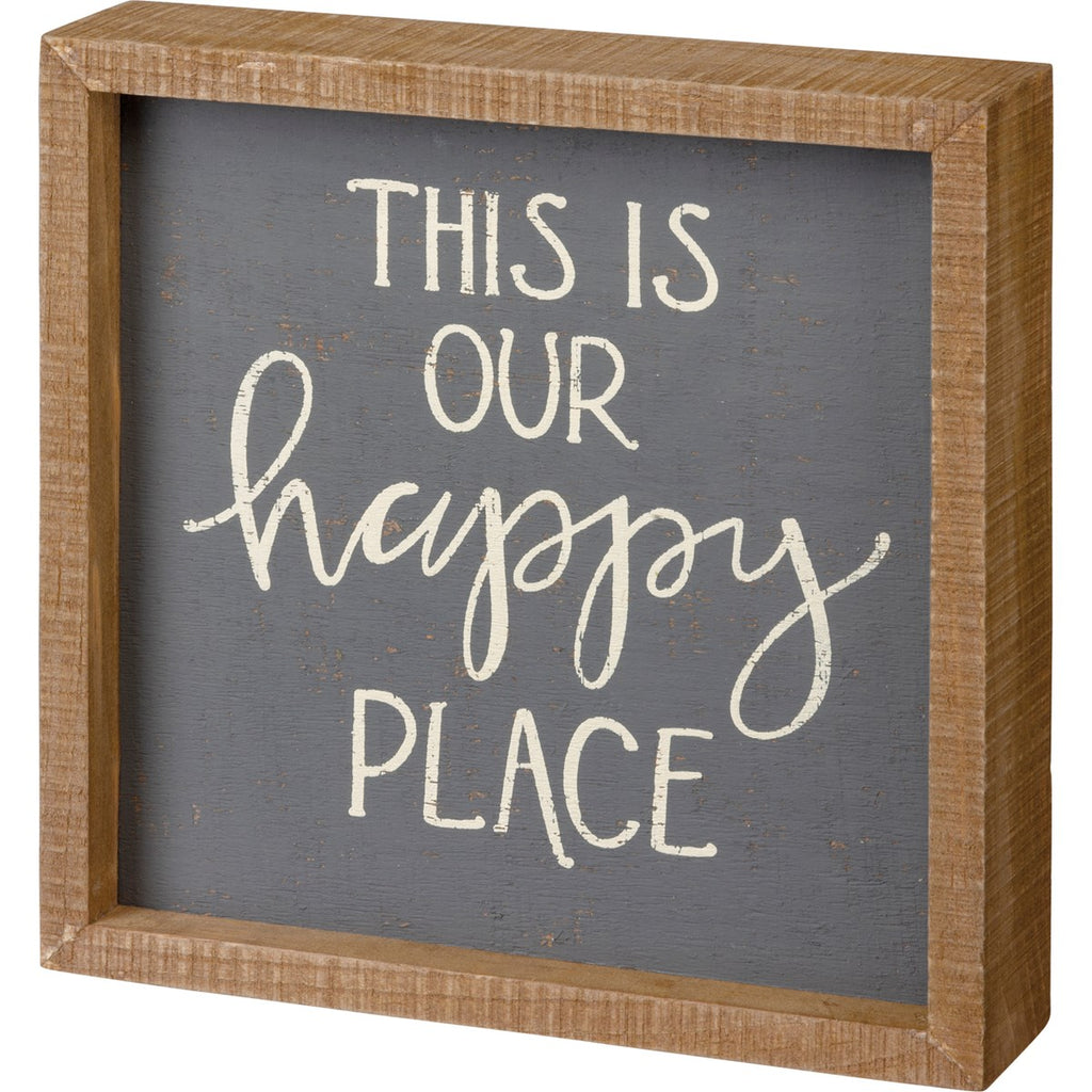 Our Happy Place Box Sign