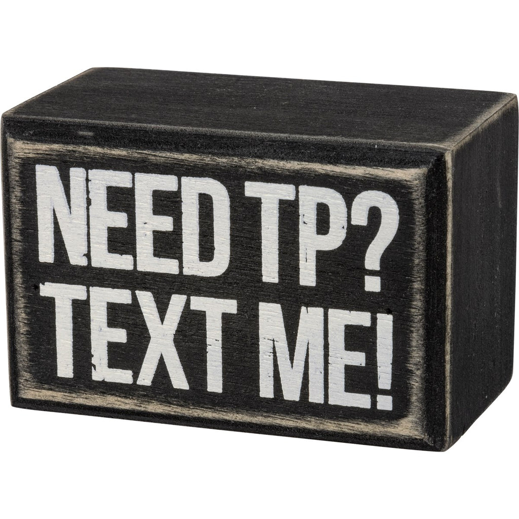 Text Me Box Sign