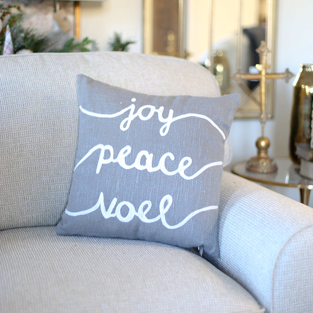 Joy, Peace, Noel Pillow