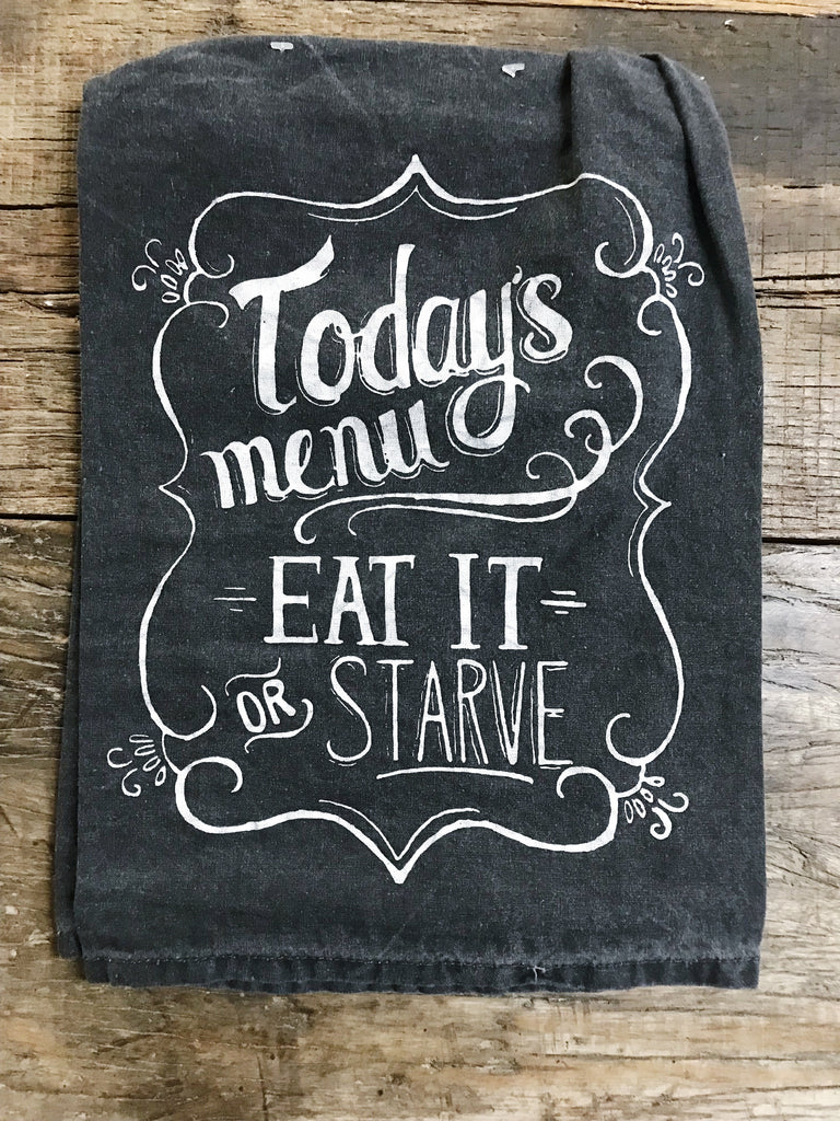 Todays Menu Tea Towel