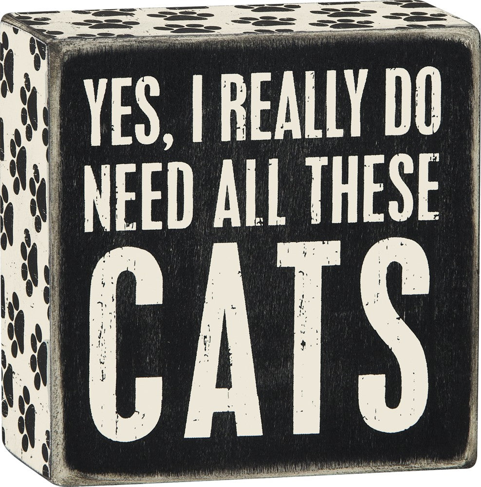 All The Cats Box Sign