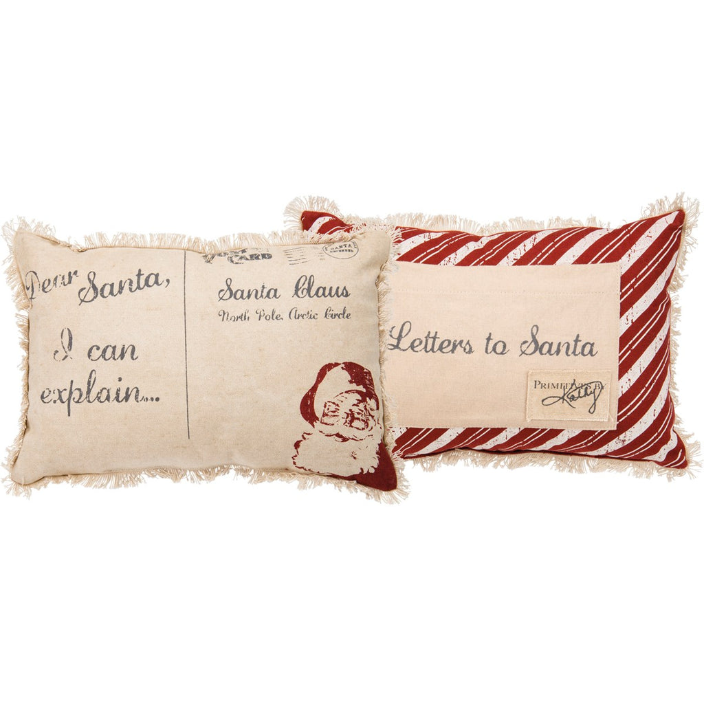 Dear Santa Canvas Pillow