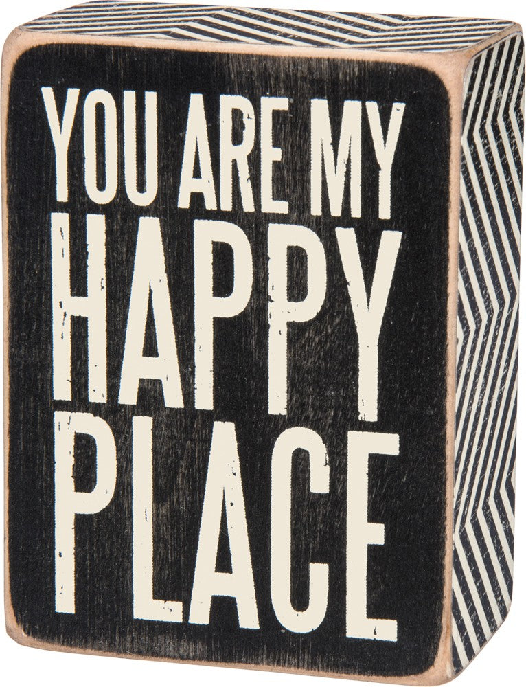 My Happy Place Box Sign