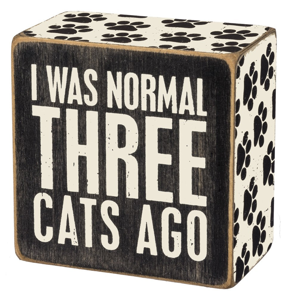 Three Cats Ago Box Sign