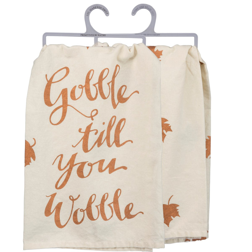 Gobble Wobble Tea Towel