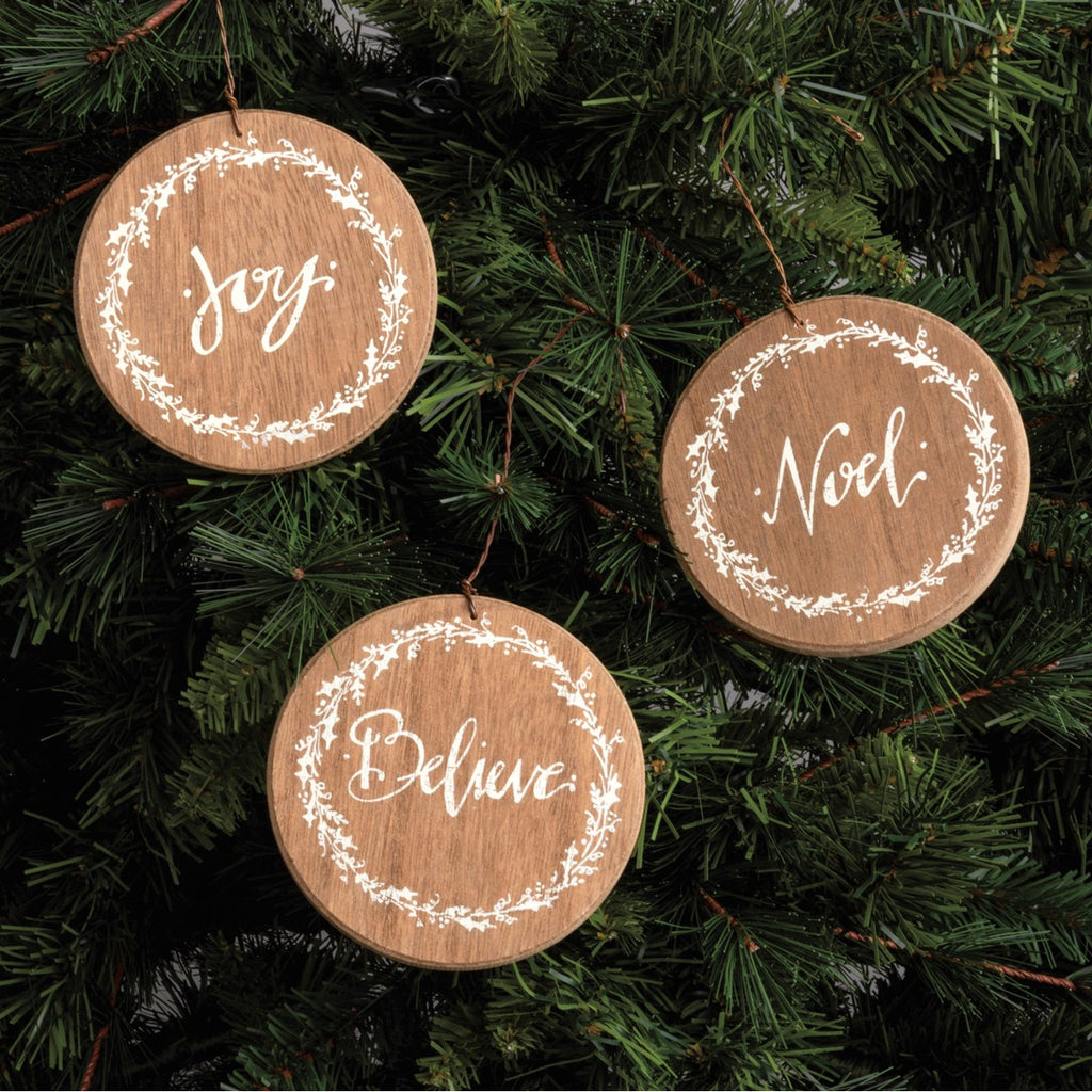 Barn Noel Ornament Set
