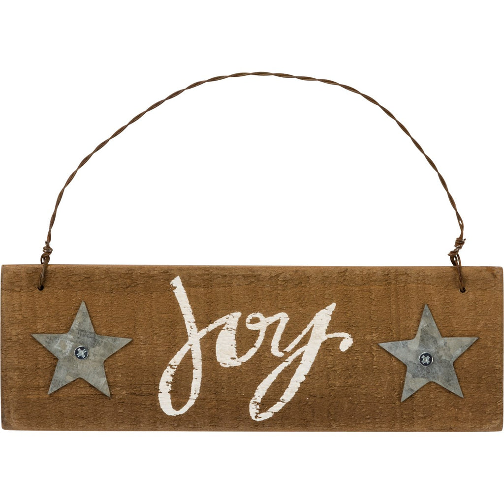 Joy Slat Ornament