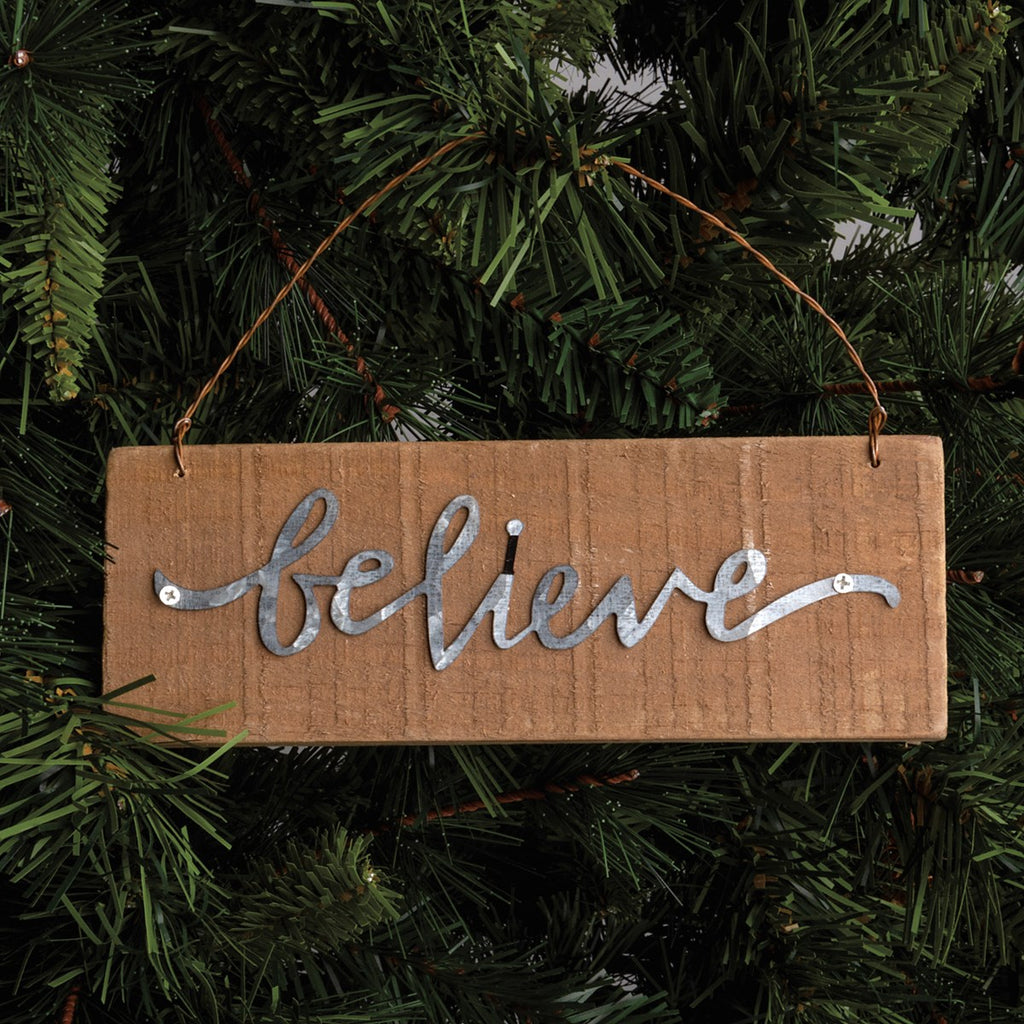 Believe Slat Ornament