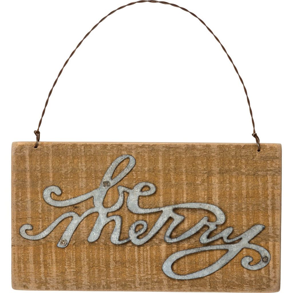 Be Merry Slat Ornament