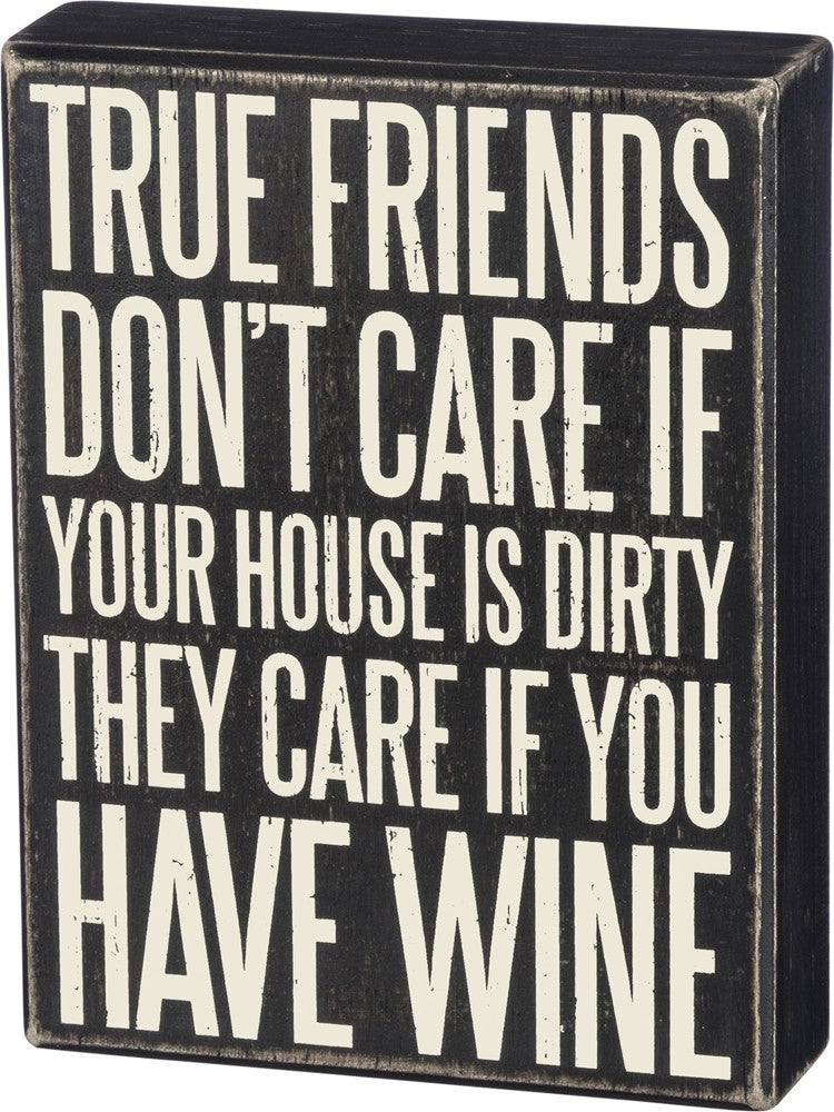 True Friends Box Sign