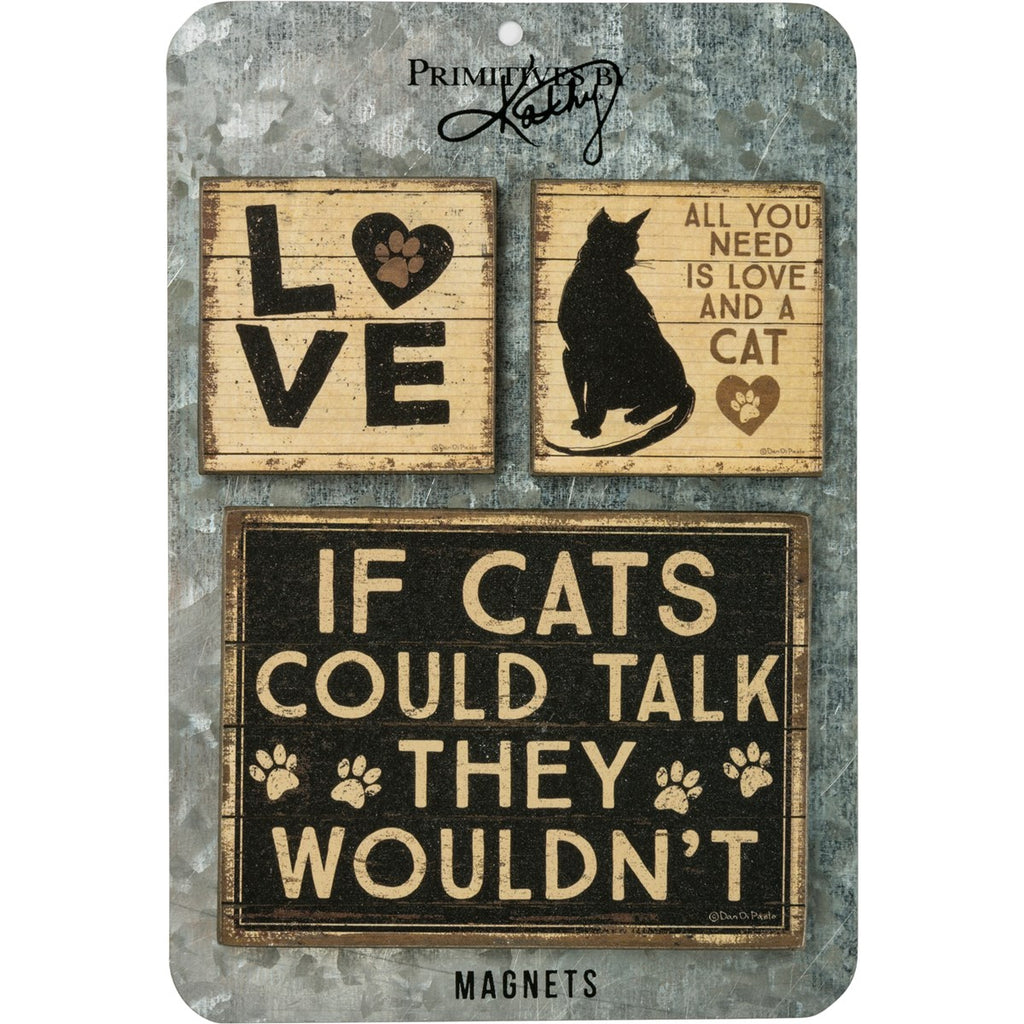 Love And A Cat Magnet Set