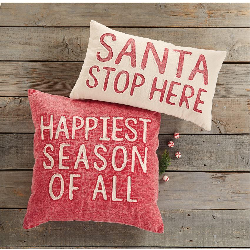 Christmas Washed Canvas Pillows