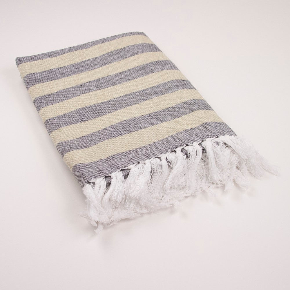 Nantucket Stripe Throw w/ Fringe