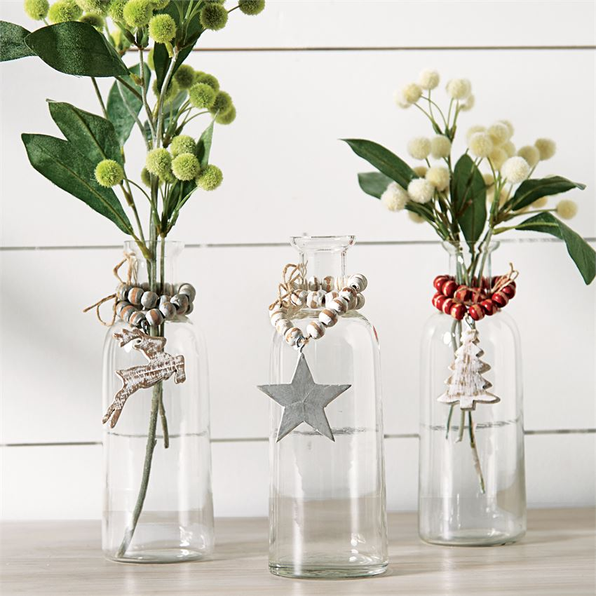 Holiday Bud Vases