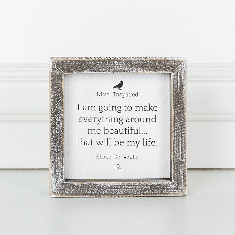 Live Inspired Wood Framed Signs