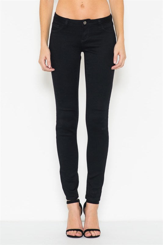 Low Rise Crop Skinny Jeans