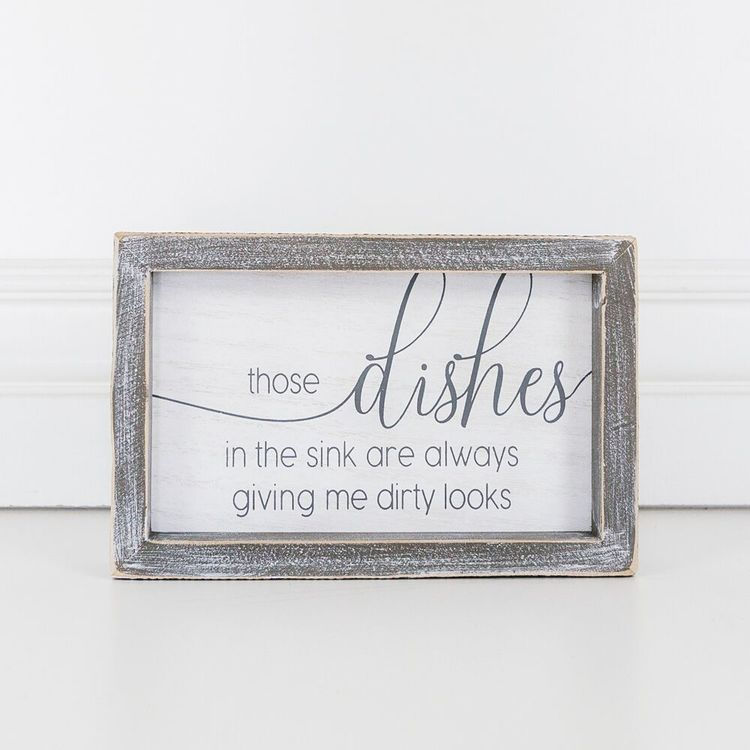 Dishes Box Sign