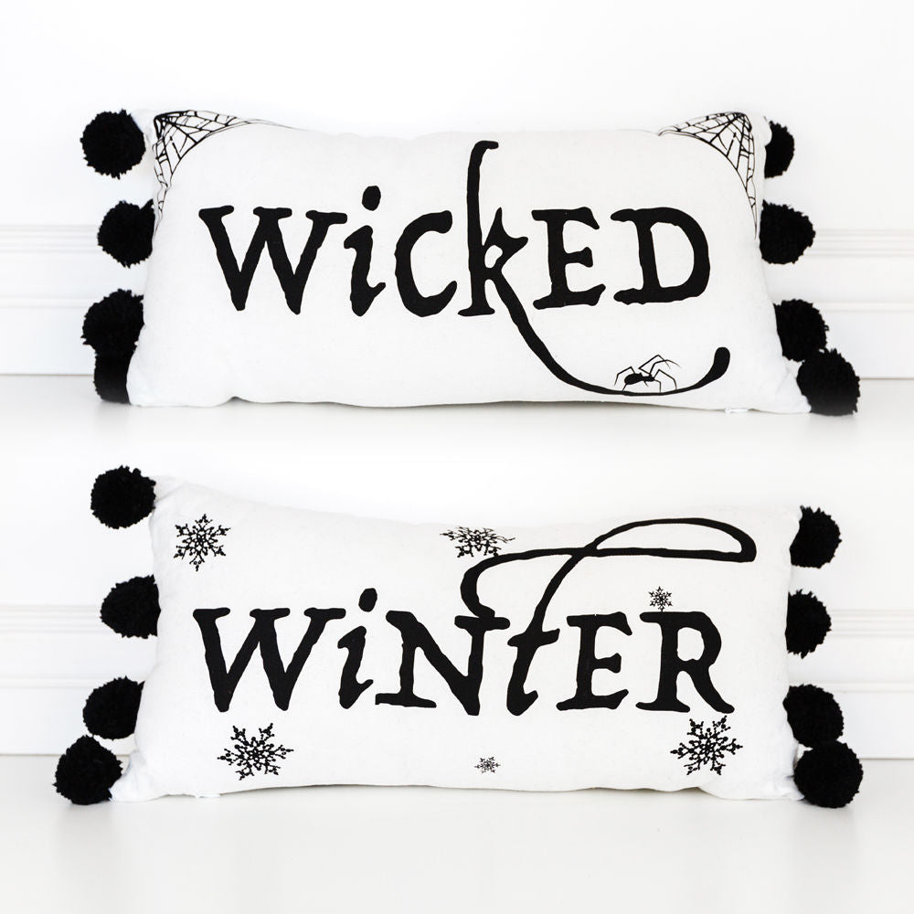 Wicked Winter Double Sided Pillow