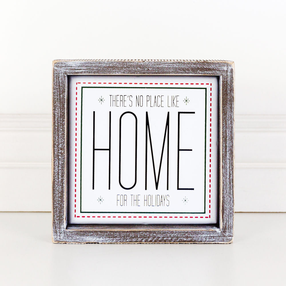 Home For The Holidays Box Sign